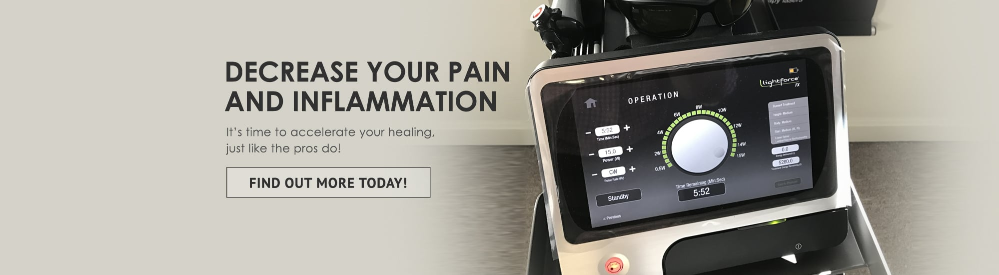 stop inflammation and pain today